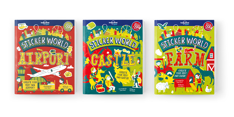 New Sticker World kids books instock now