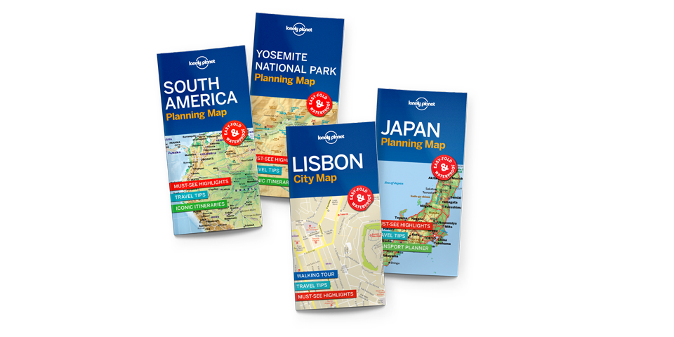 Lonely Planet planning maps available now
