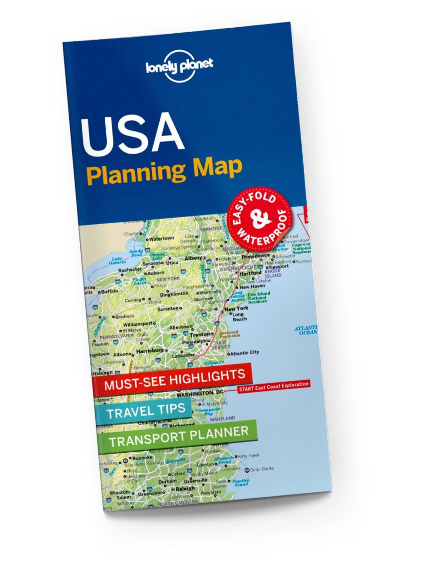 USA Planning Map, 1st Edition Jun 2017 by Lonely Planet 9781786579096