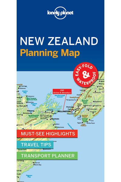 New Zealand Sightseeing Map.New Zealand Planning Map