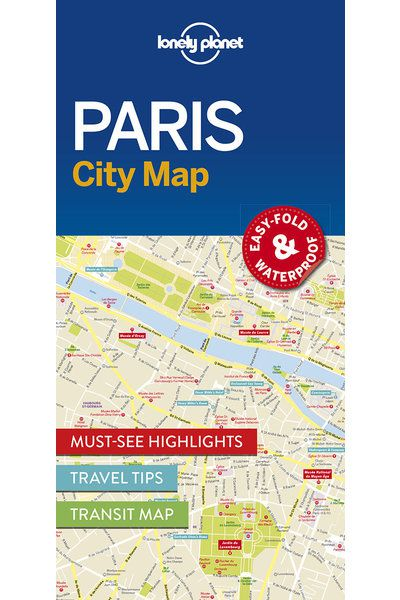 Paris City Map Lonely Planet Shop Lonely Planet US - What to see in paris map