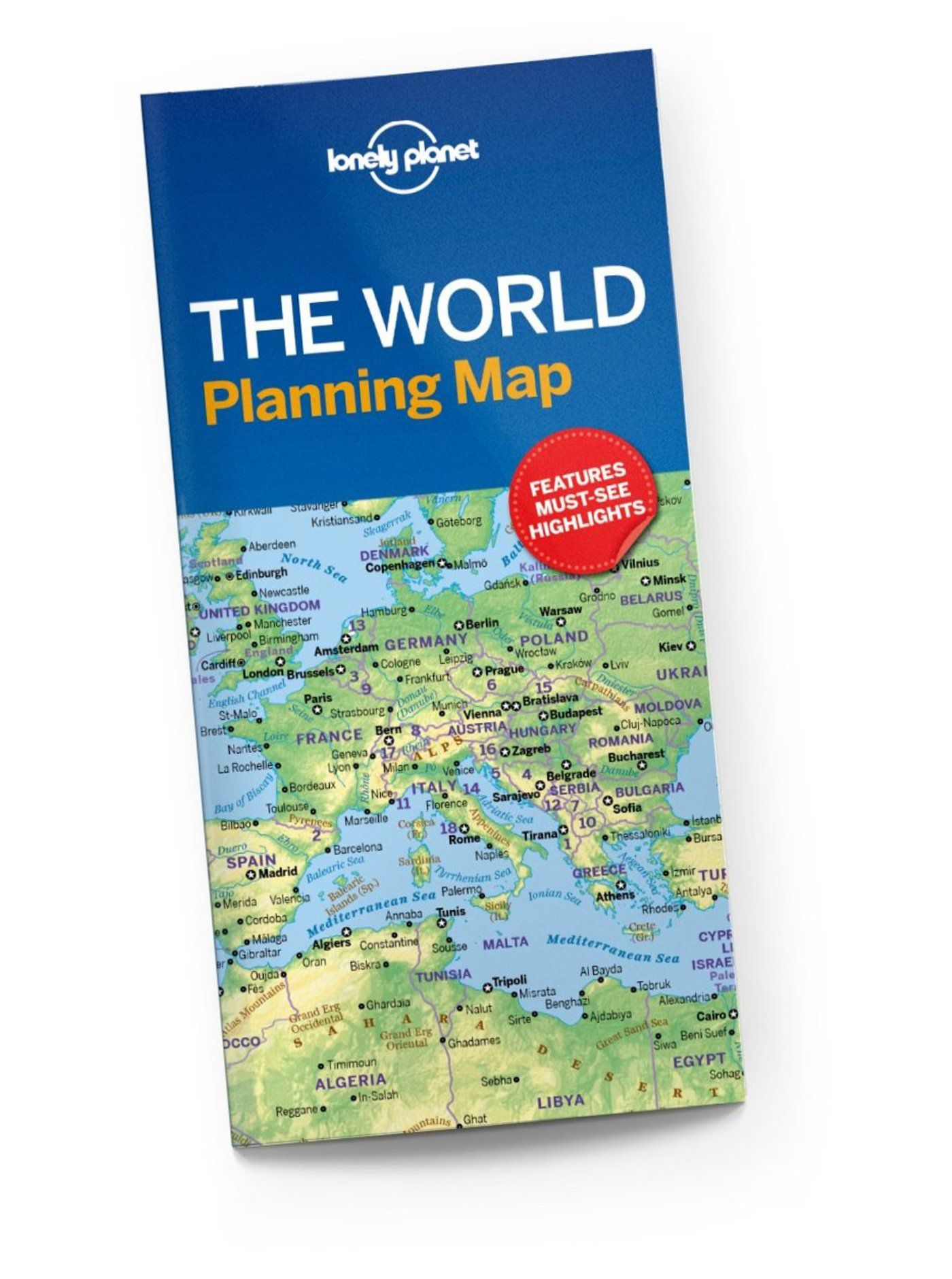 The World Planning Map Lonely Planet Shop Lonely Planet US