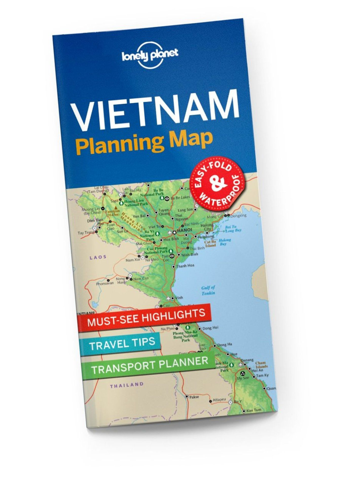 Lonely Planet Vietnam Planning Map 1st Ed.