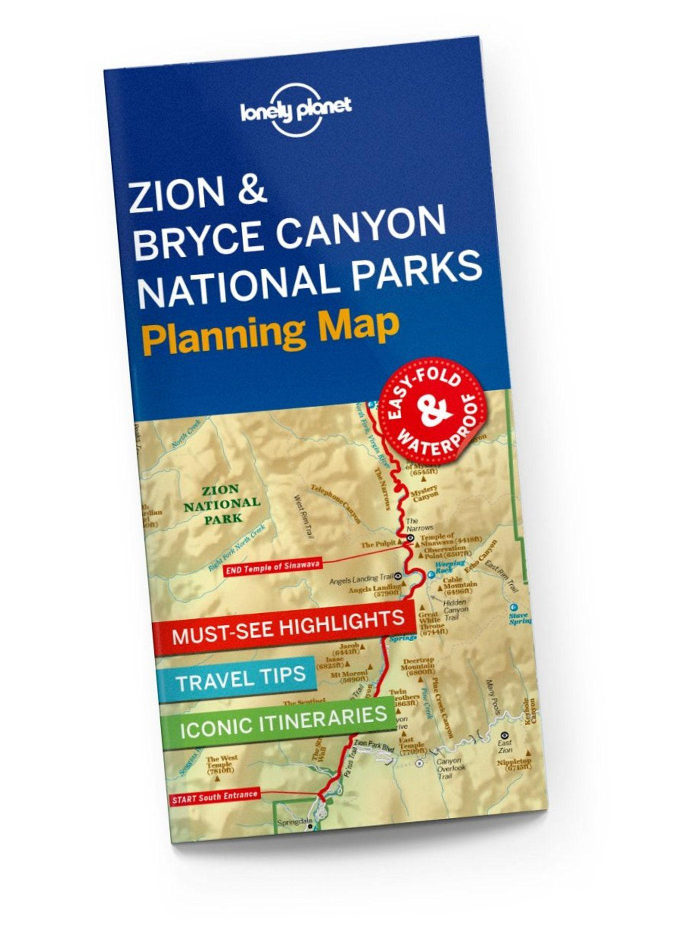 Zion & Bryce Canyon National Parks Planning Map